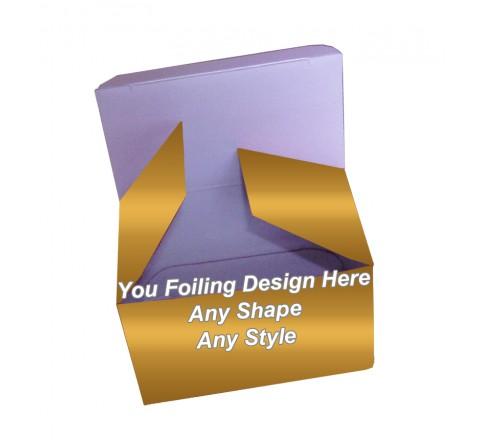 Golden Foiling - Reverse Tuck End Tea Boxes